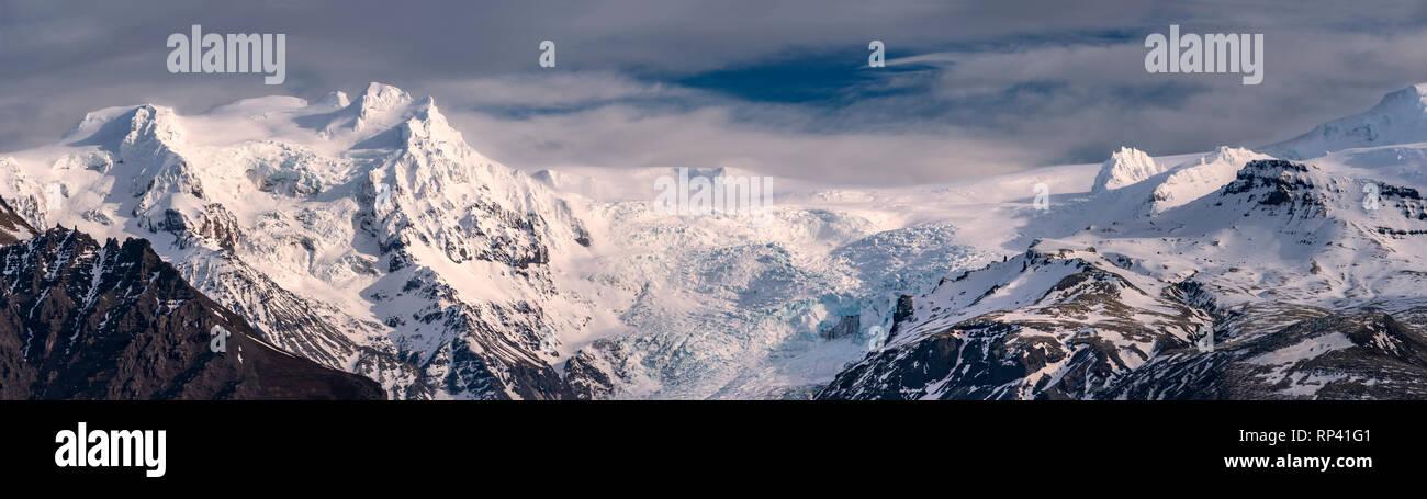Öræfajökull Gletscher Vatnajökull Eiskappe, Island Stockbild