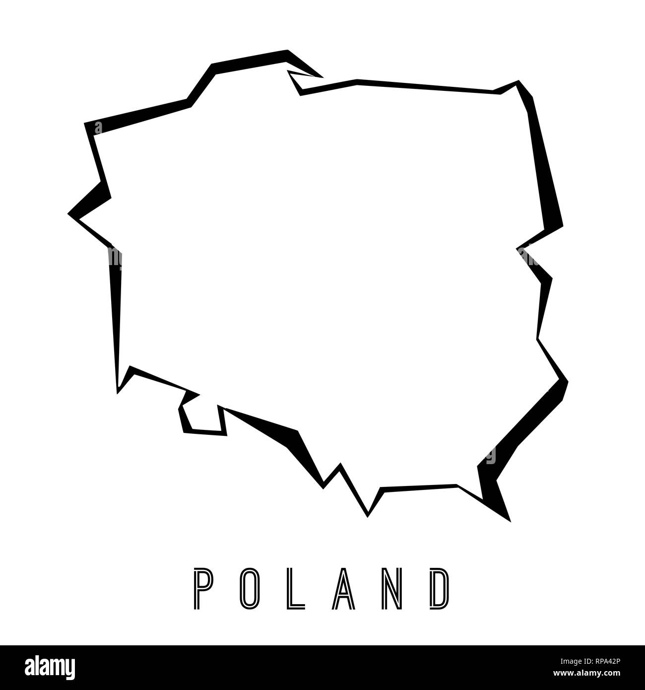 Polen Karte Umriss.Polen Umriss Stockfotos Polen Umriss Bilder Alamy