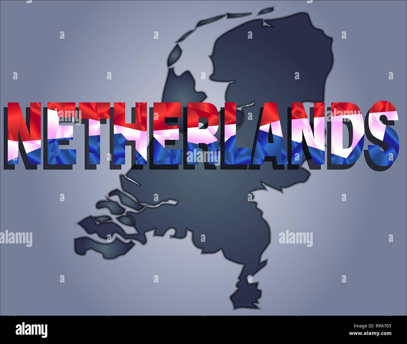 Benelux Karte Stockfotos & Benelux Karte Bilder