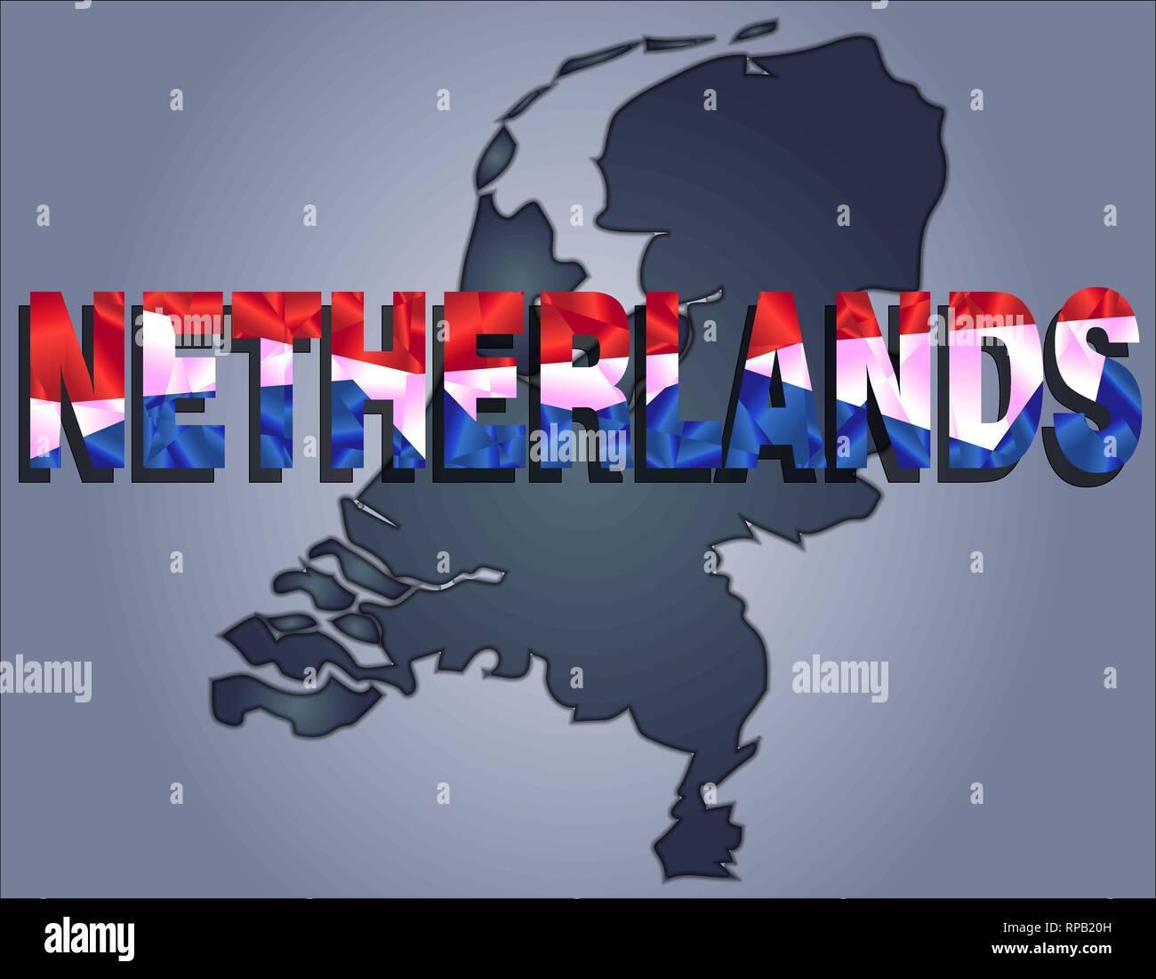 Weiß Rot Blaue Flagge: Benelux Karte Stockfotos & Benelux Karte Bilder