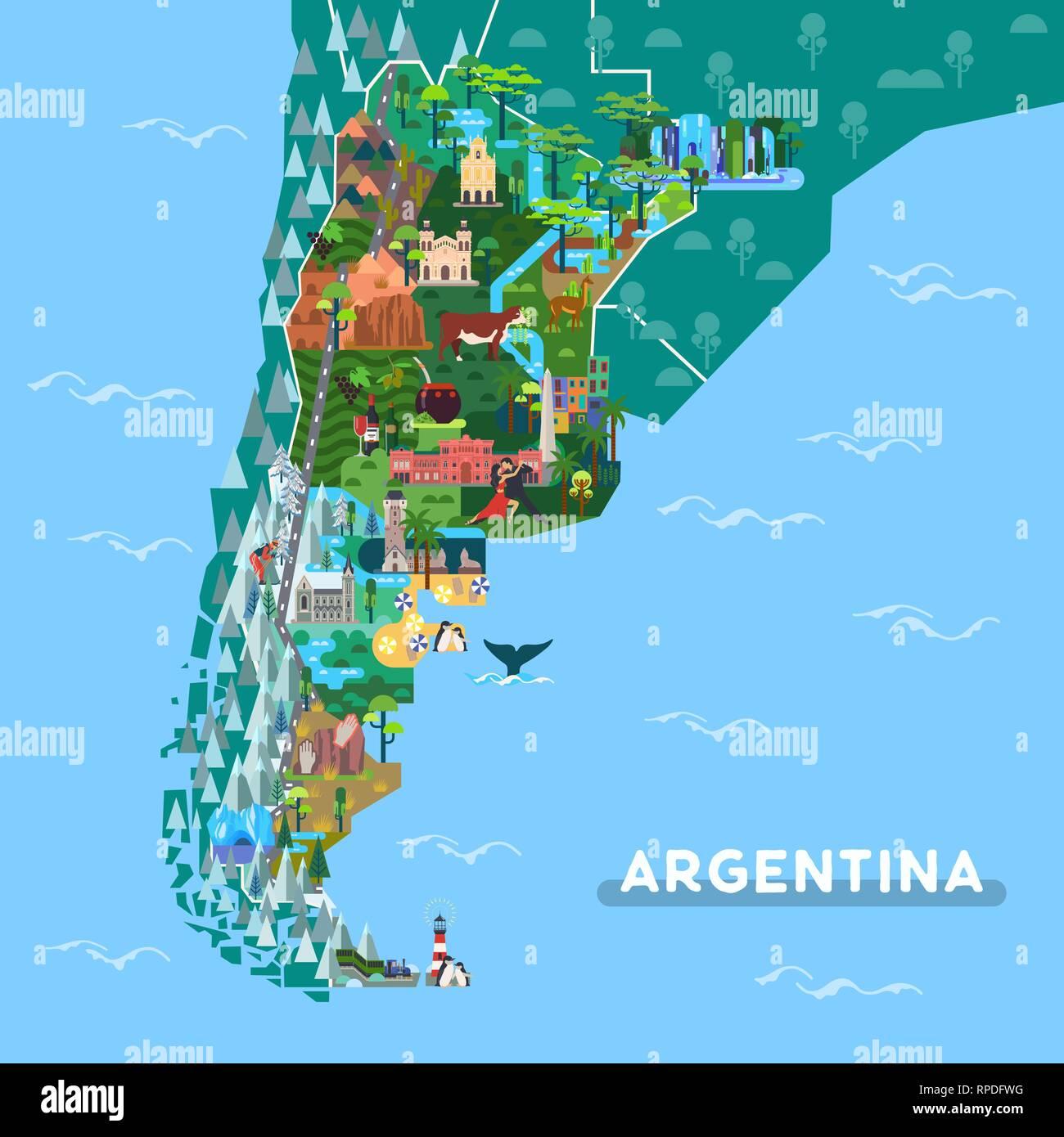 Argentine Map Stockfotos & Argentine Map Bilder - Alamy
