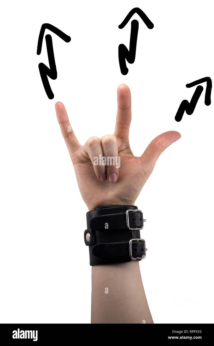 Rocker handzeichen