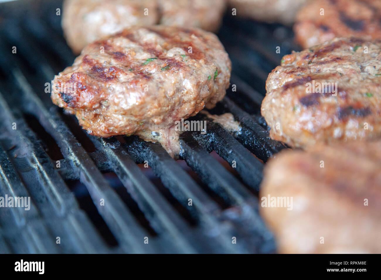 Gegrillte Burger Stockbild