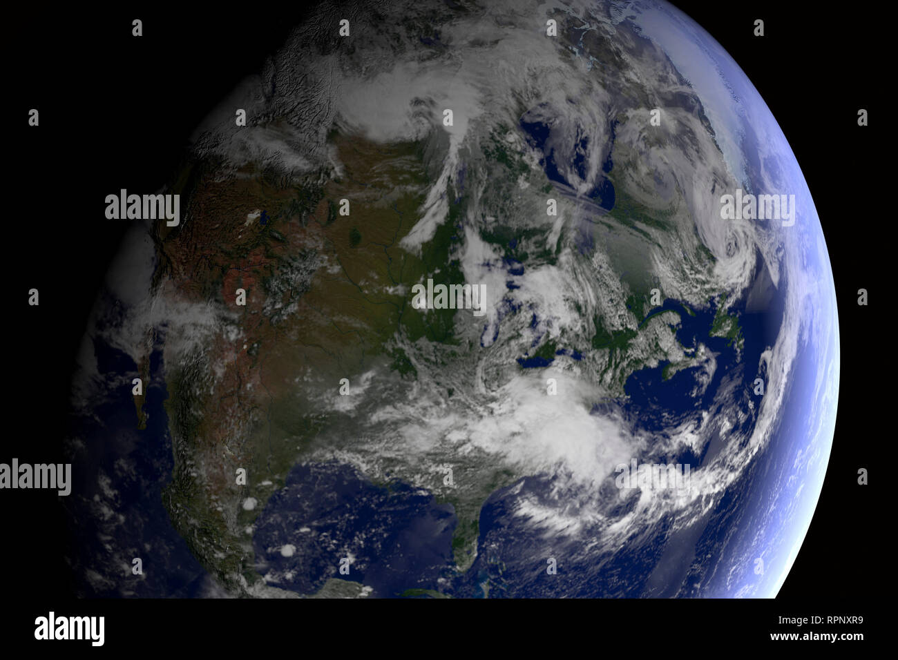 CGI-Visualisierung: Erdball Im Weltall. Stockbild