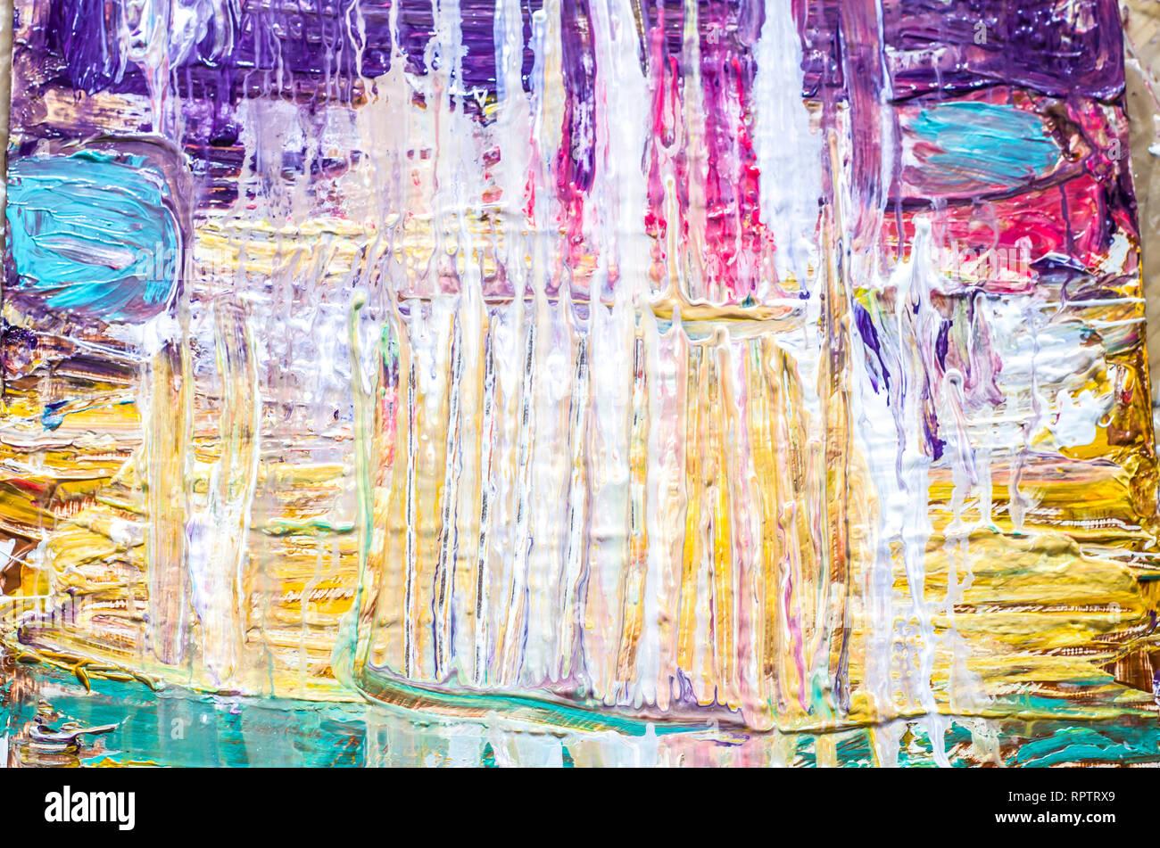 Hand Acryl Malerei Gezeichnet Abstrakte Kunst Hintergrund Acrylbild Auf Leinwand Farbe Textur Fragment Der Kunstwerke Pinselstriche Der Farbe Stockfotografie Alamy