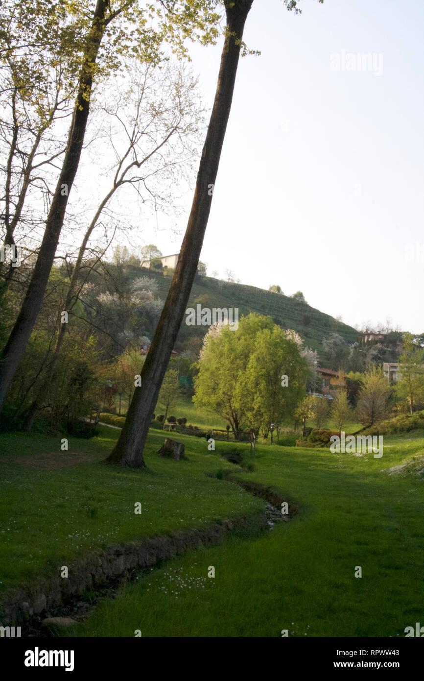 Über Pertevano Montevecchia-Park durch 6. Stockbild