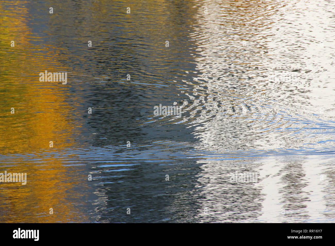 Abstrakte Wasser Reflexion Stockbild