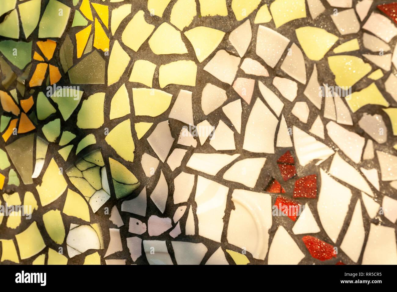 Hintergrund Der Nassen Mosaik Wand Dekorative Ornament Aus
