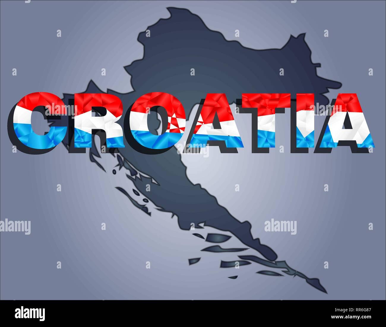 Croatia Map Stockfotos & Croatia Map Bilder