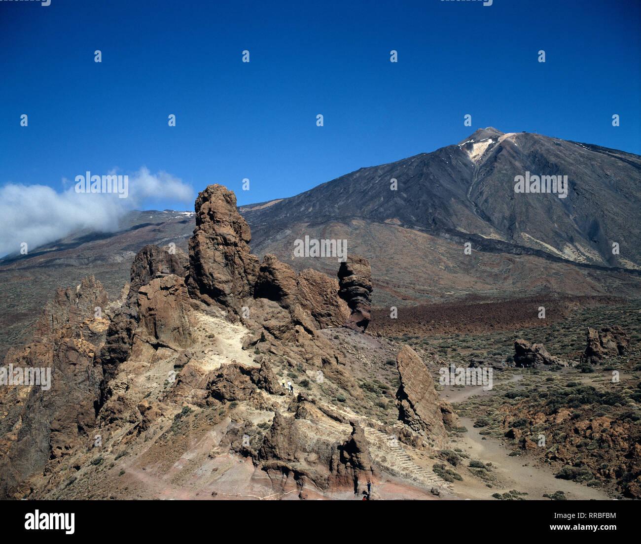 Kanarischen Inseln. Landschaft. Mount Teide und Las Canadas. Teneriffa. Stockbild