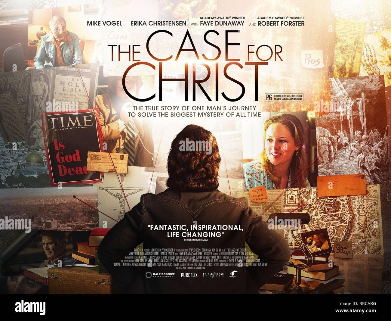 Der Fall für Christus, MOVIE POSTER, 2017 Stockbild