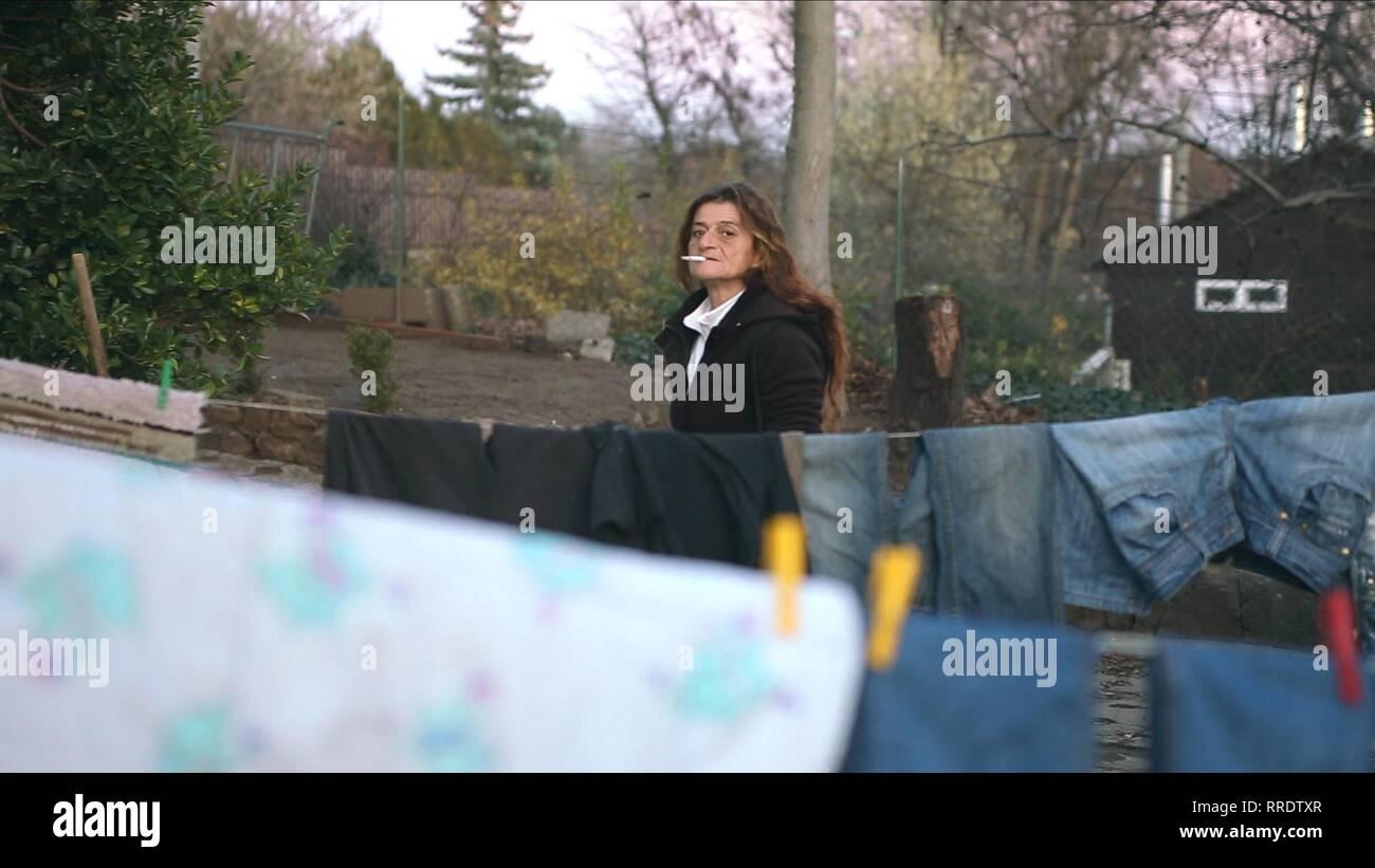 Eine Frau gefangen, MARISH, 2017 Stockbild