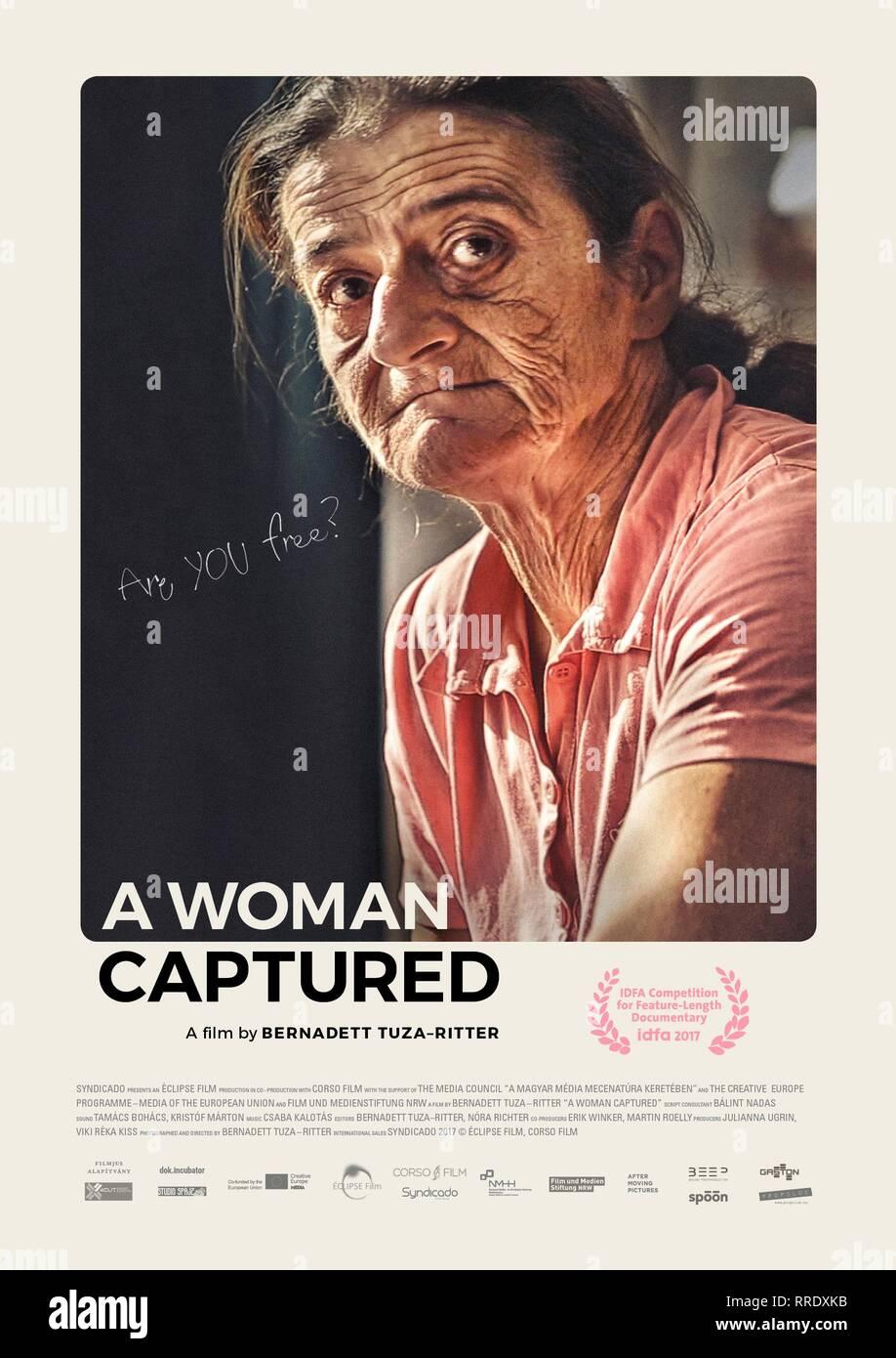 Eine Frau gefangen, MARISH PLAKAT, 2017 Stockbild