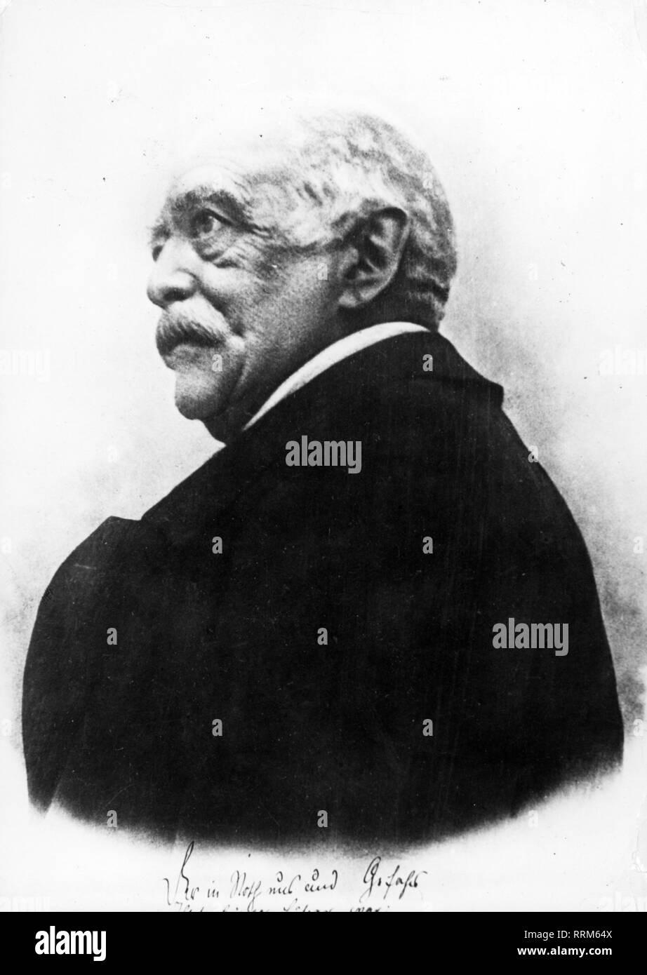 Bismarck, Otto von, 1.4.1815 - 30.7.1898, Deutscher Politiker, Porträt, im Alter von 80 Jahren 1895, Additional-Rights - Clearance-Info - Not-Available Stockbild