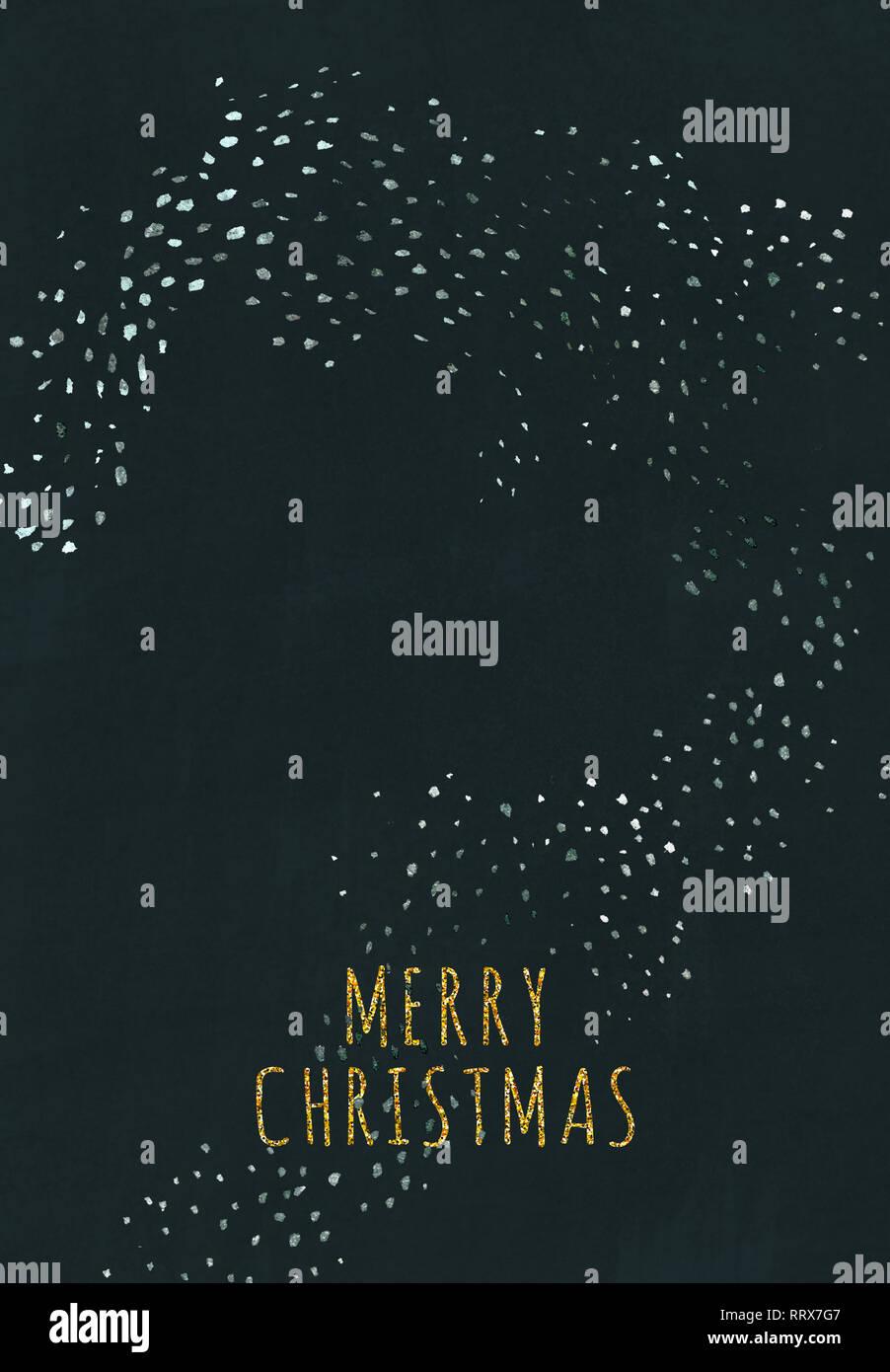 Frohe Weihnachten Glitzer.Bereit Zum Drucken Gruß Postkarte Postkarte Mit Schönen Silber