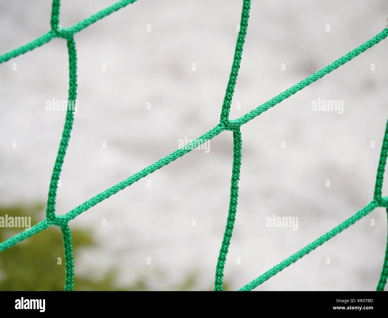 Ziel Tor Mit Netz Und Schnee An Der Seite Detailansicht Zu