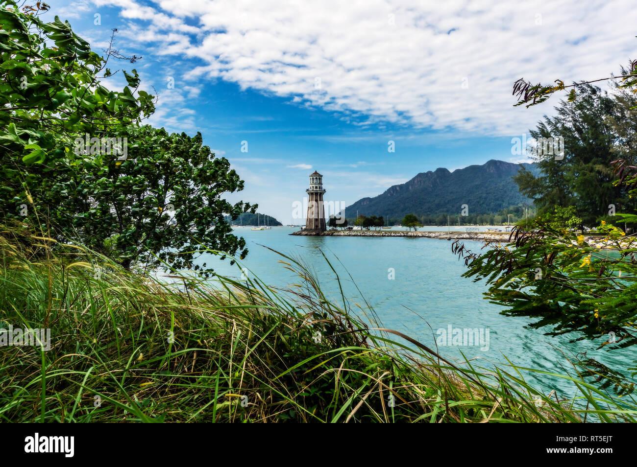 Malaysia, Langkawi, Light House Stockbild