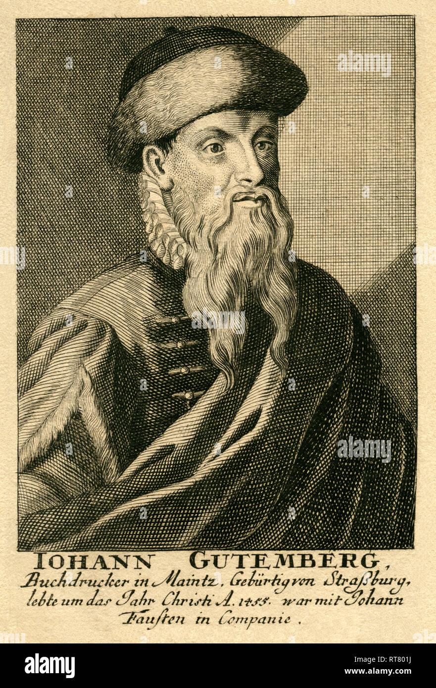 Johannes Gutenberg Portrait Stockfotos und  bilder Kaufen   Alamy