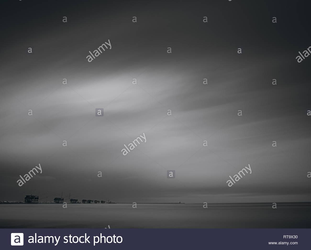 nach Sturm Stockbild