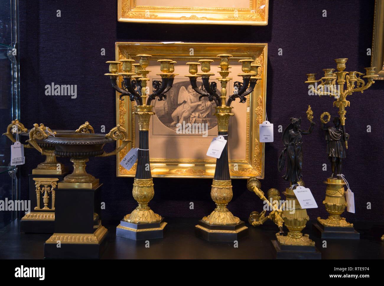 Bonhams, Knightsbridge, London, UK. 1. März, 2019. Private Sammlung und Galerie von Alain Morvan Antiquitäten Vorschau vor dem Verkauf bei Bonhams am 6. März. Credit: Malcolm Park/Alamy Leben Nachrichten. Stockbild