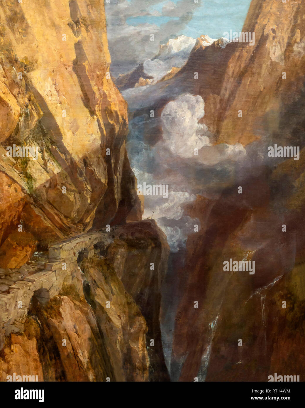 Den Pass von St. Gotthard, Schweiz, JMW Turner, ca. 1803-1804, Stockbild
