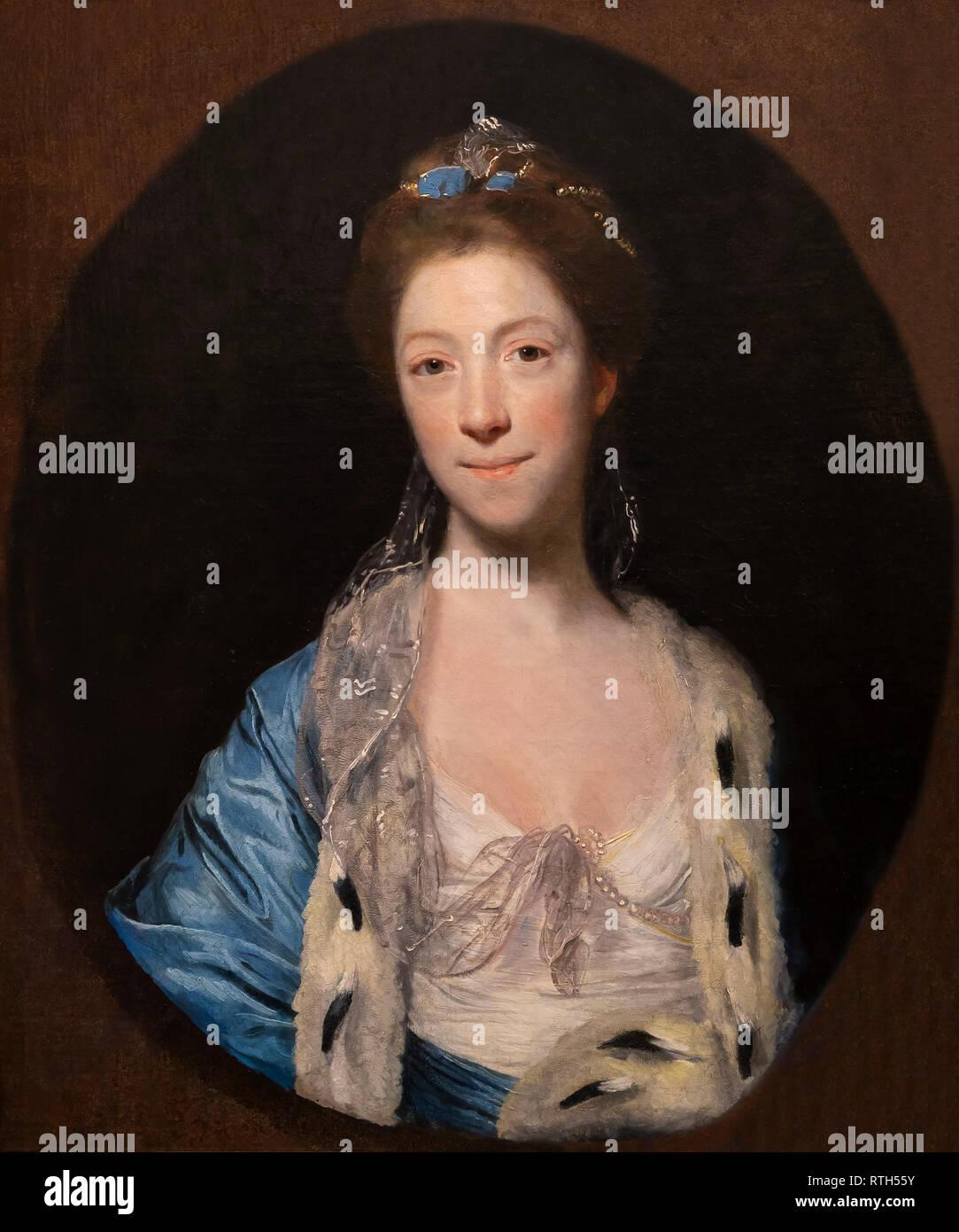 Frau Luther, Levina Bennett, Joshua Reynolds, 1763-1766, Stockbild