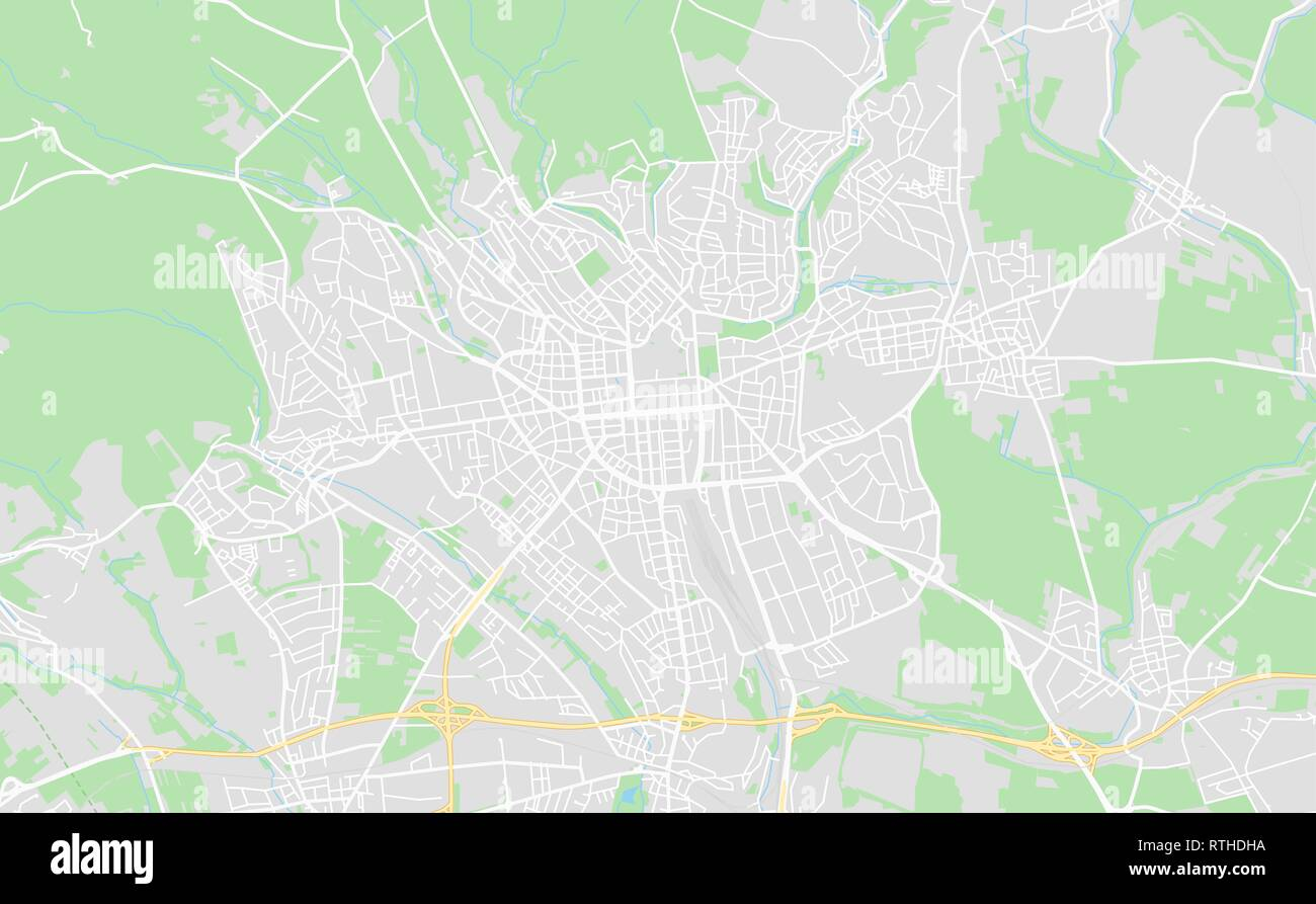 Wiesbaden Karte.Wiesbaden Deutschland Druckbare Karte Im Klassischen Stil Gehalten