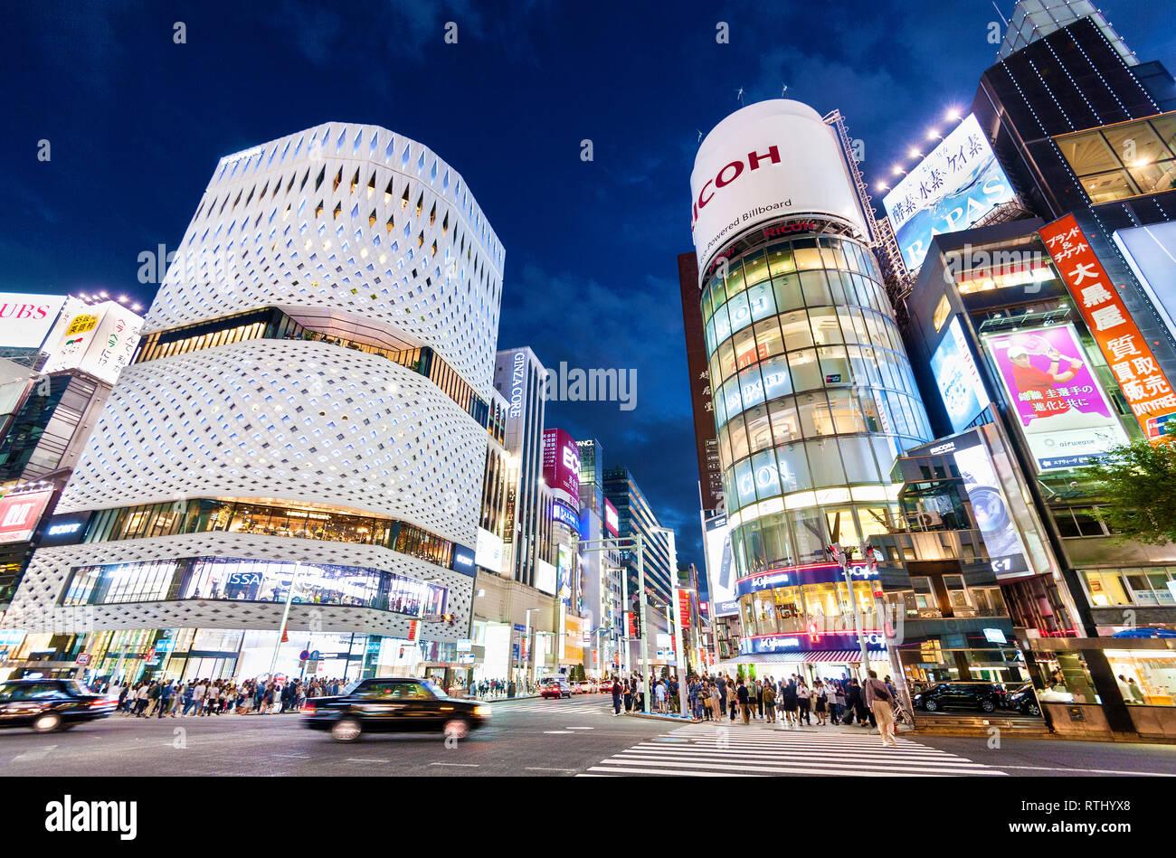 Ginza Tokyo Ginza Ort Klein Dytham architecture Ginza Kreuzung Tokyo Japan Stockbild