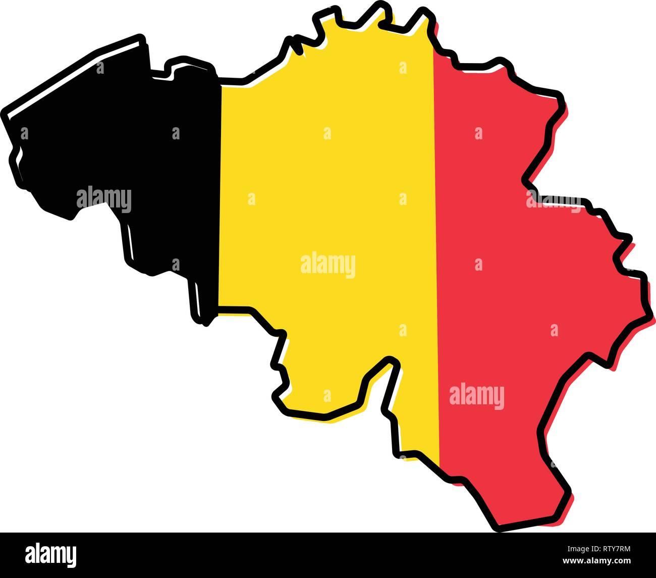 Belgien Karte Umriss.Belgien Umriss Stockfotos Belgien Umriss Bilder Alamy