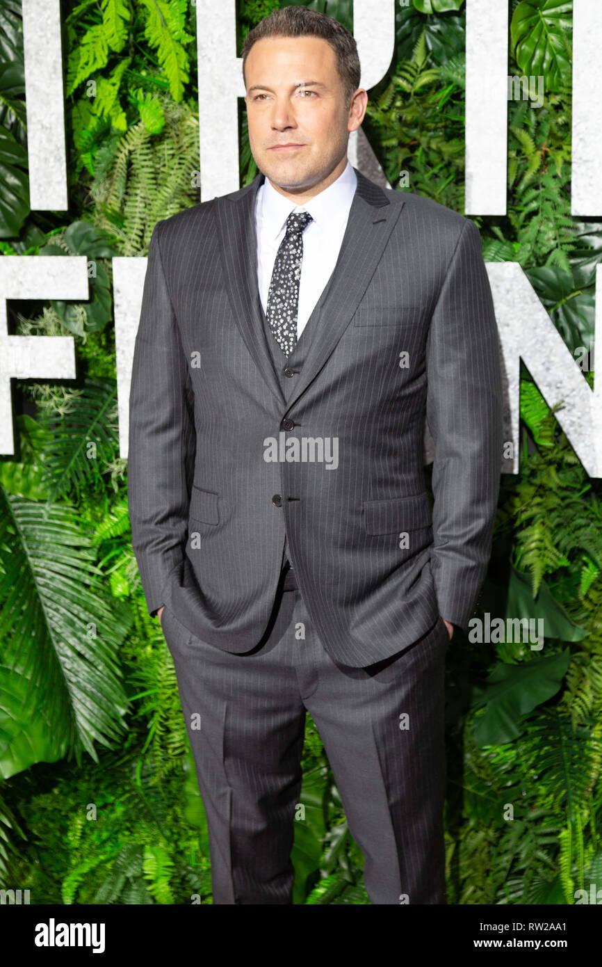 """New York, New York, USA. 3. März, 2019. Schauspieler Ben Affleck besucht die Weltpremiere von Netflix """"Triple Frontier"""" bei Jazz at Lincoln Center in New York City am 3. März 2019. Quelle: Jeremy Burke/Alamy leben Nachrichten Stockfoto"""