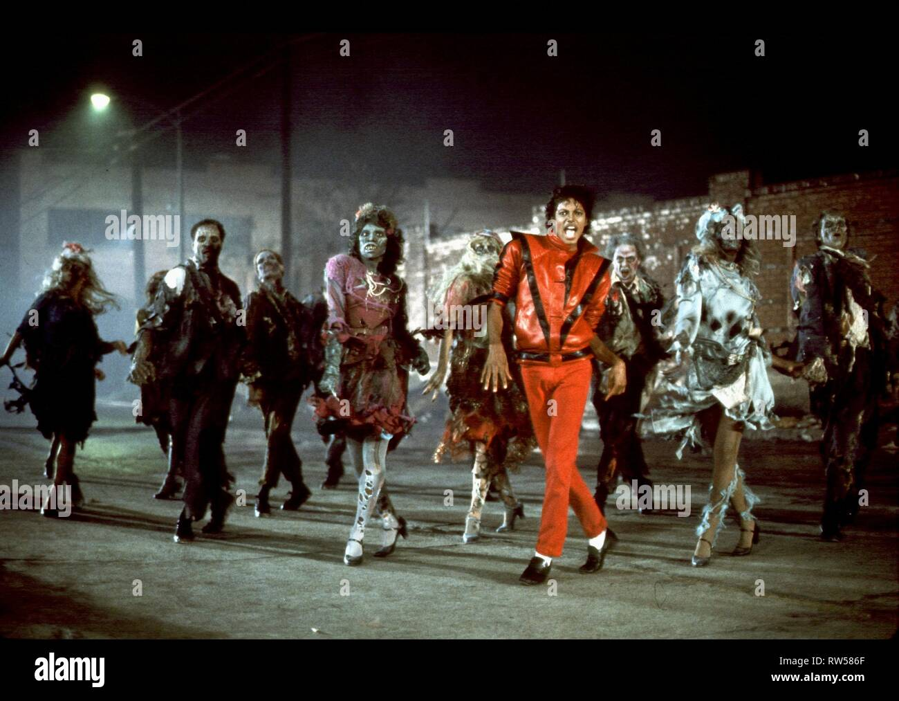 Michael Jackson Thriller 1983 Stockfotografie Alamy