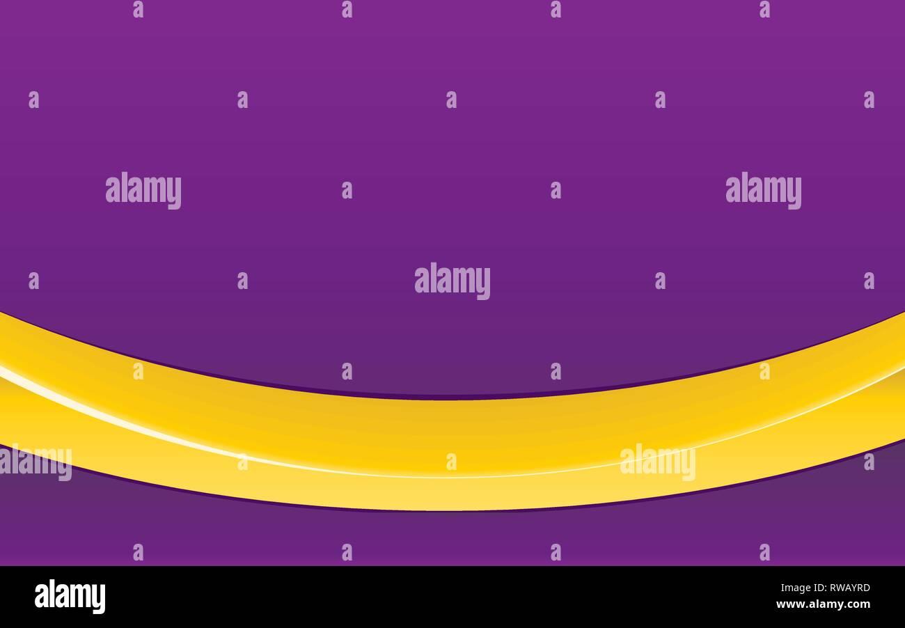 Purple Abstract Background Mit Leuchtend Gelben Band Und