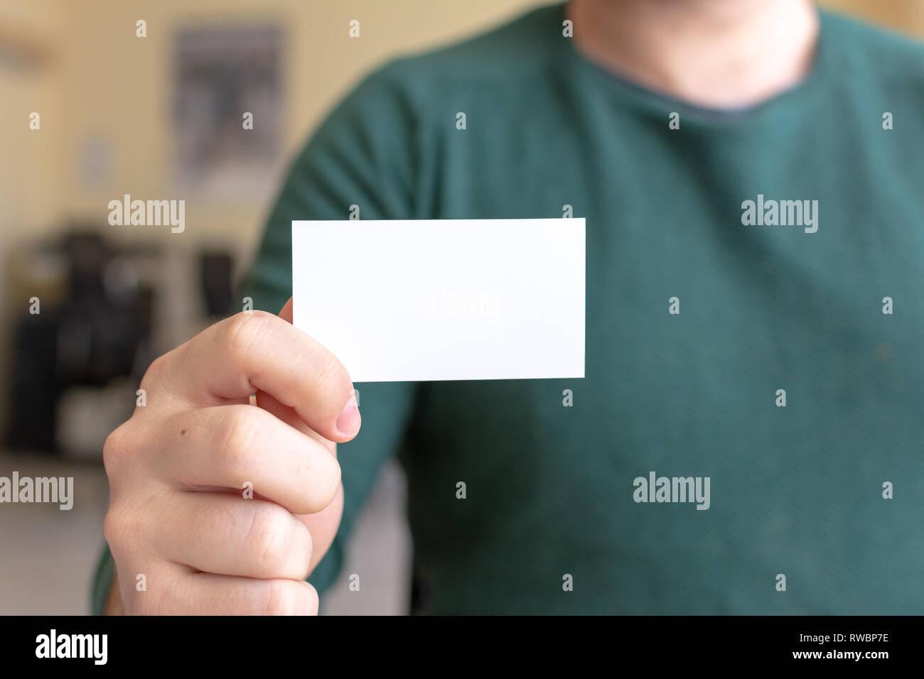 Vorlage Für Die Visitenkarte Stockfotos Vorlage Für Die