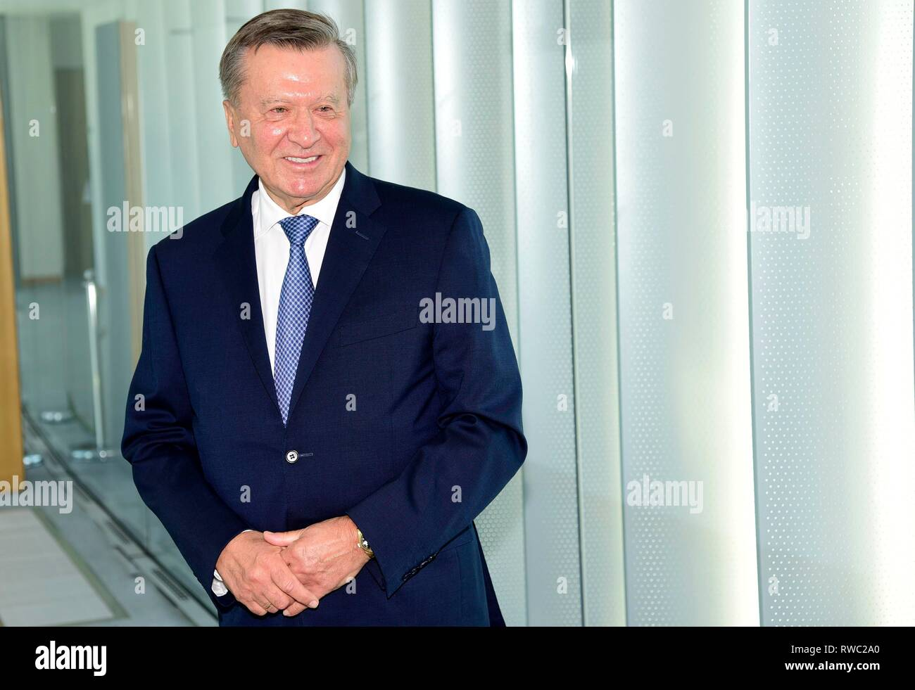 """Mailand, Italien. 05 Mär, 2019. Mailand, Viktor Subkow Alekseevic. Präsident von """"Gazprom"""", den wichtigsten russischen Ölgesellschaft Credit: Unabhängige Fotoagentur/Alamy leben Nachrichten Stockfoto"""
