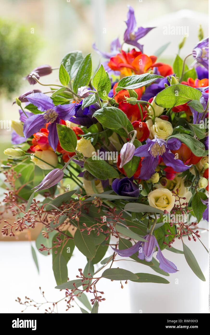 Botanik, natürlich filmier Flower Bouquet, Vorsicht! Für Greetingcard-Use/Postcard-Use in deutschsprachigen Ländern gibt es einige Einschränkungen Stockbild
