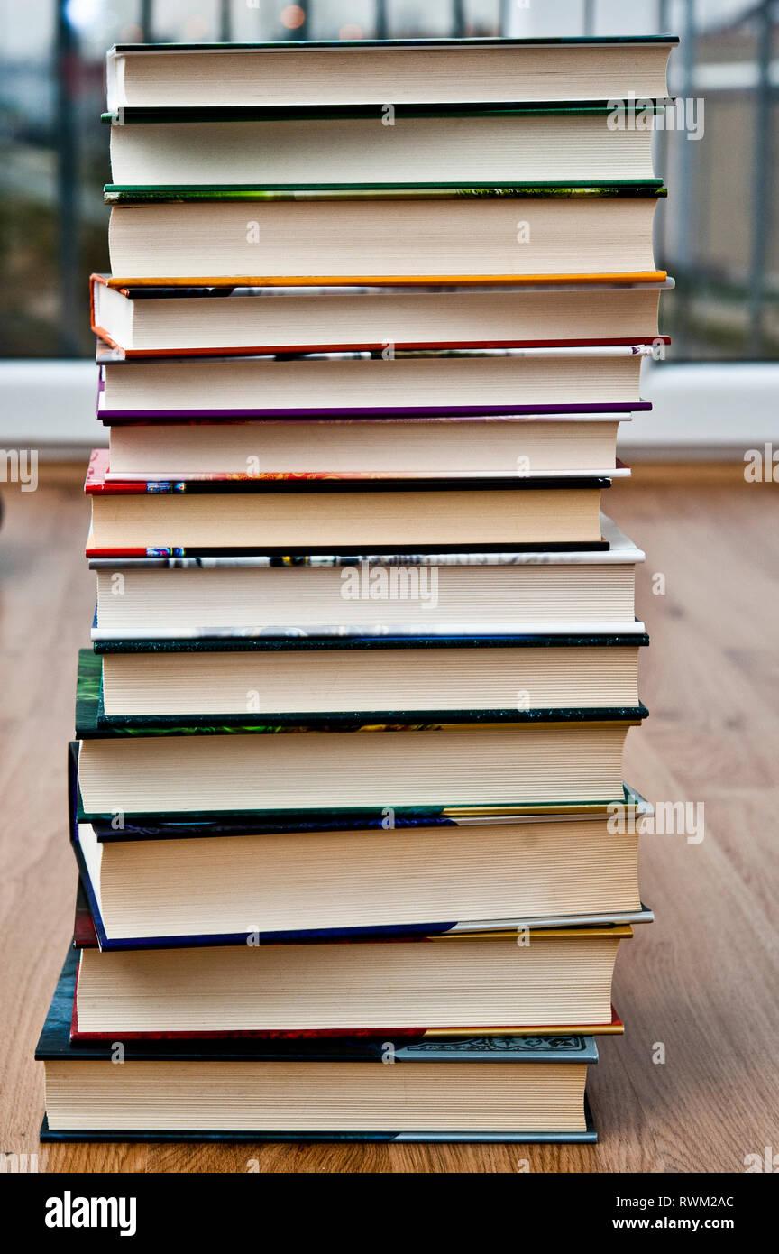 Stapel von Büchern Stockfoto