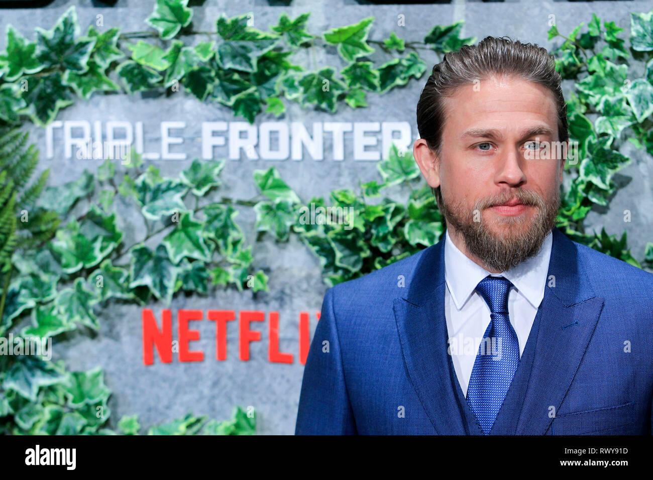 Charlie Hunnam bei der Premiere des Netflix Movie 'Triple Frontera/Triple Frontier' bei Cine Callao. Madrid, 06.03.2019 | Verwendung weltweit Stockbild