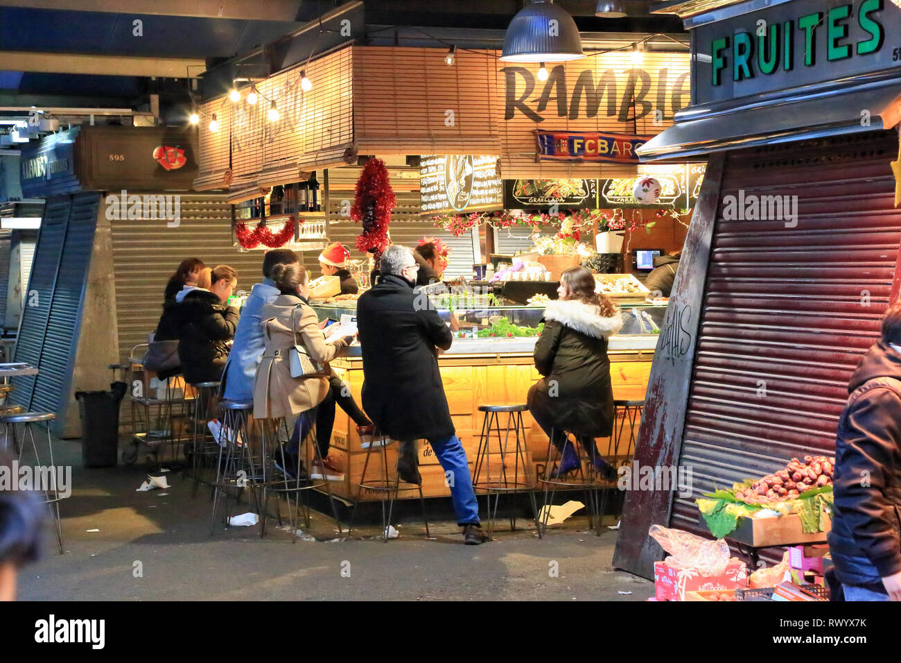 Mercat de la Boqueria, La Rambla, Barcelona Stockbild