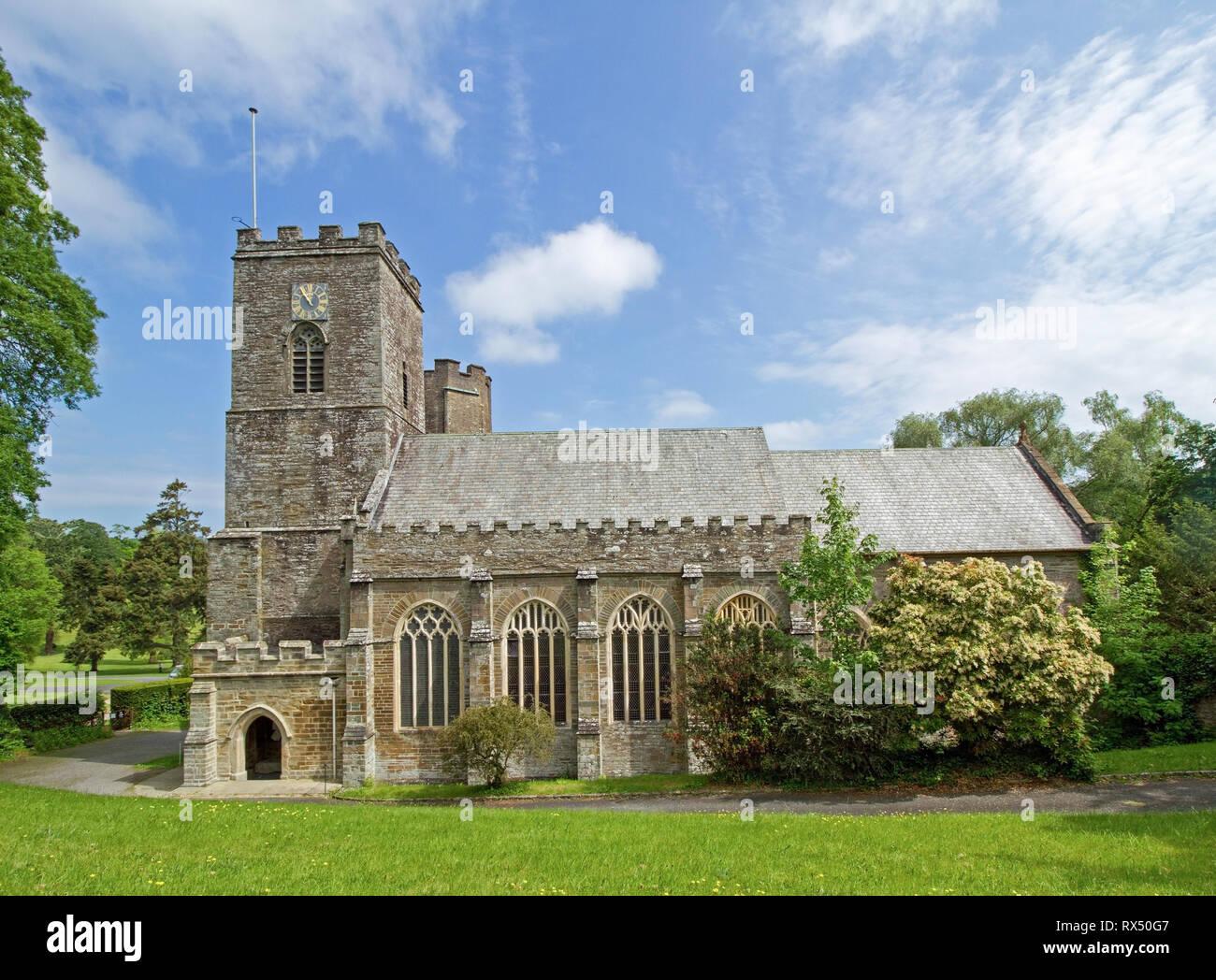 Von St Deutsche Priorat Cornwall Stockbild