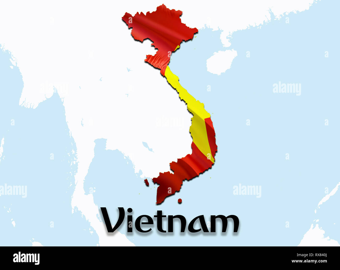 Vietnam Country Map On Sign Stockfotos & Vietnam Country Map ...