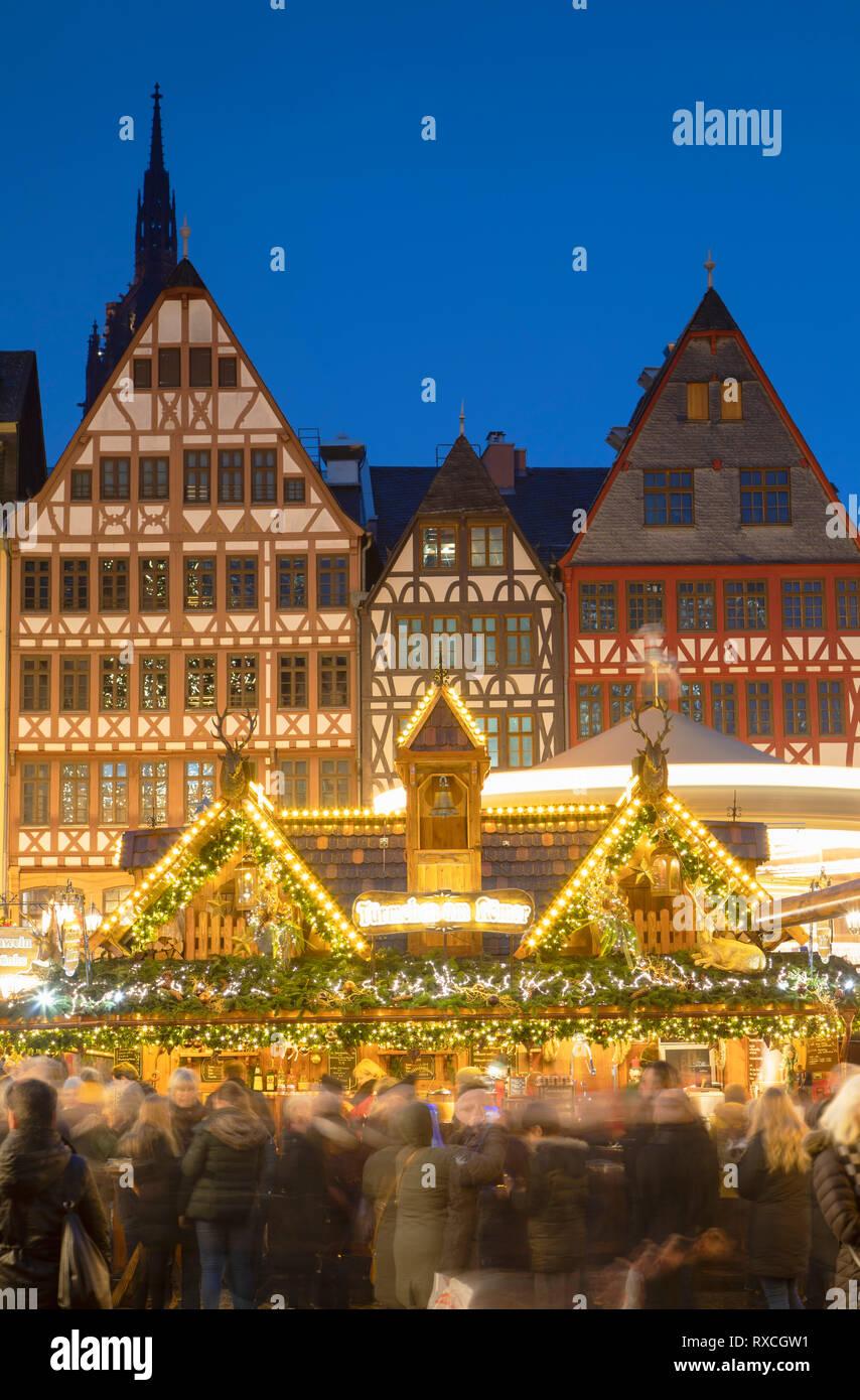 Frankfurter Weihnachtsmarkt.Frankfurter Weihnachtsmarkt In Der Dämmerung Frankfurt Am Main