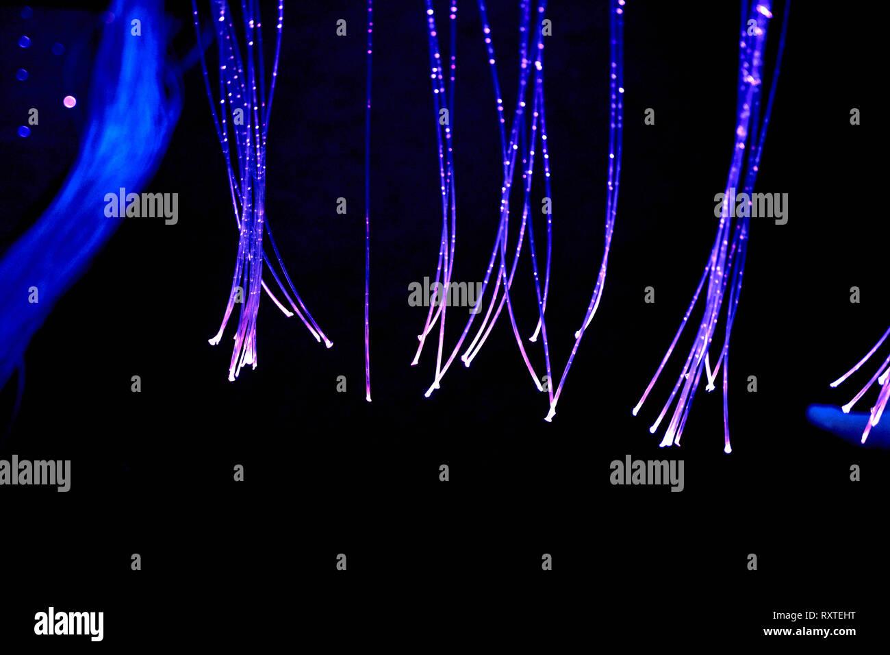 Farbe Therapie in den Ruhestand care Home. multi sensorische Stimulierung healthcare Platz Stockbild