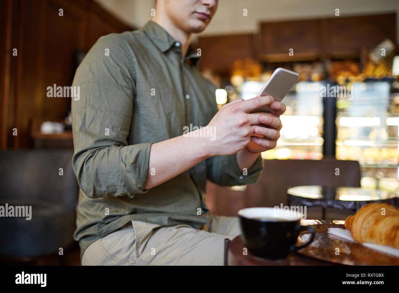 Zeit im café Stockfoto