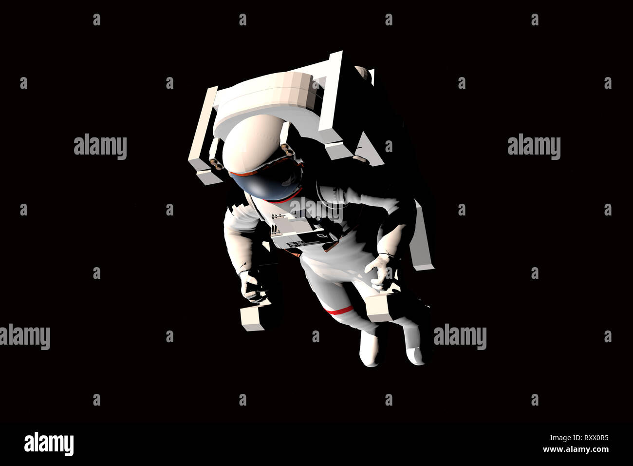 Cgi (Computer Generated image)/Illustration: Astronaut im Weltall (nur fuer redaktionelle Verwendung. Keine Werbung. Referenzdatenbank: http://www.36 Stockbild