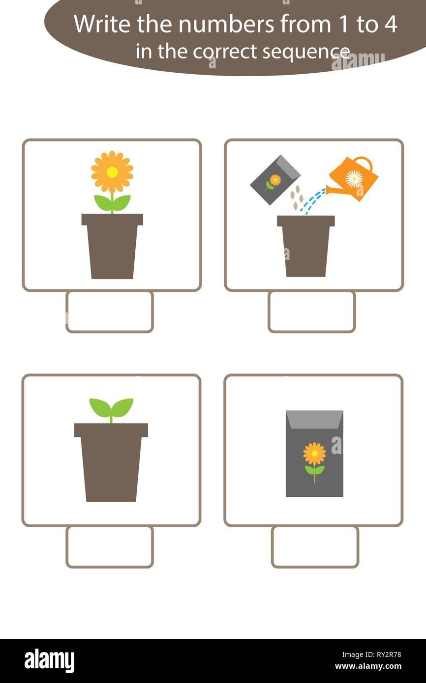 Visuelle Spiel mit Garten Bilder für Kinder, pädagogische Aufgabe ...