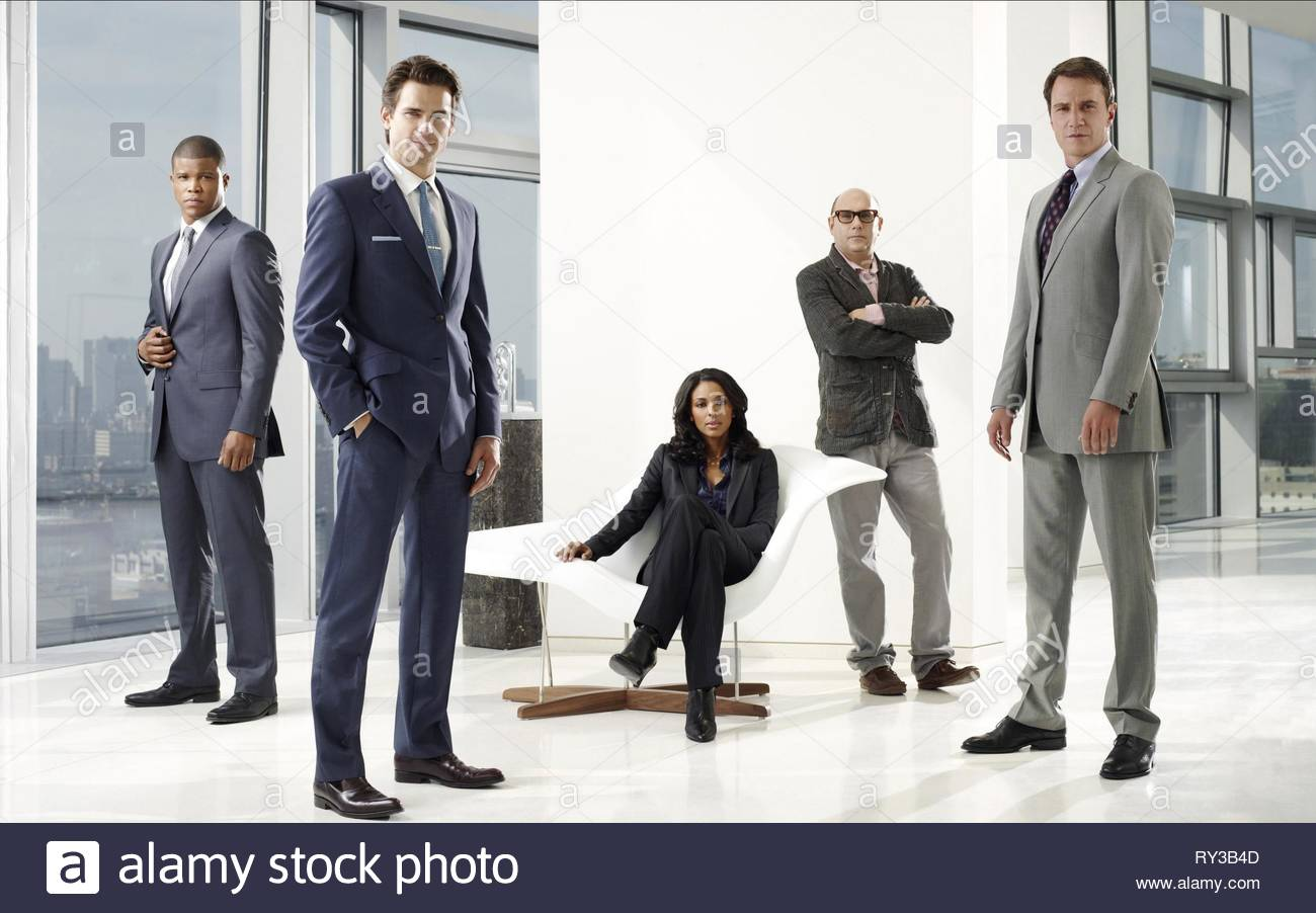 SHARIF ATKINS, MATT BOMER, MARSHA THOMASON, Willie Garson, TIM DEKAY, weiße Kragen, 2009 Stockbild