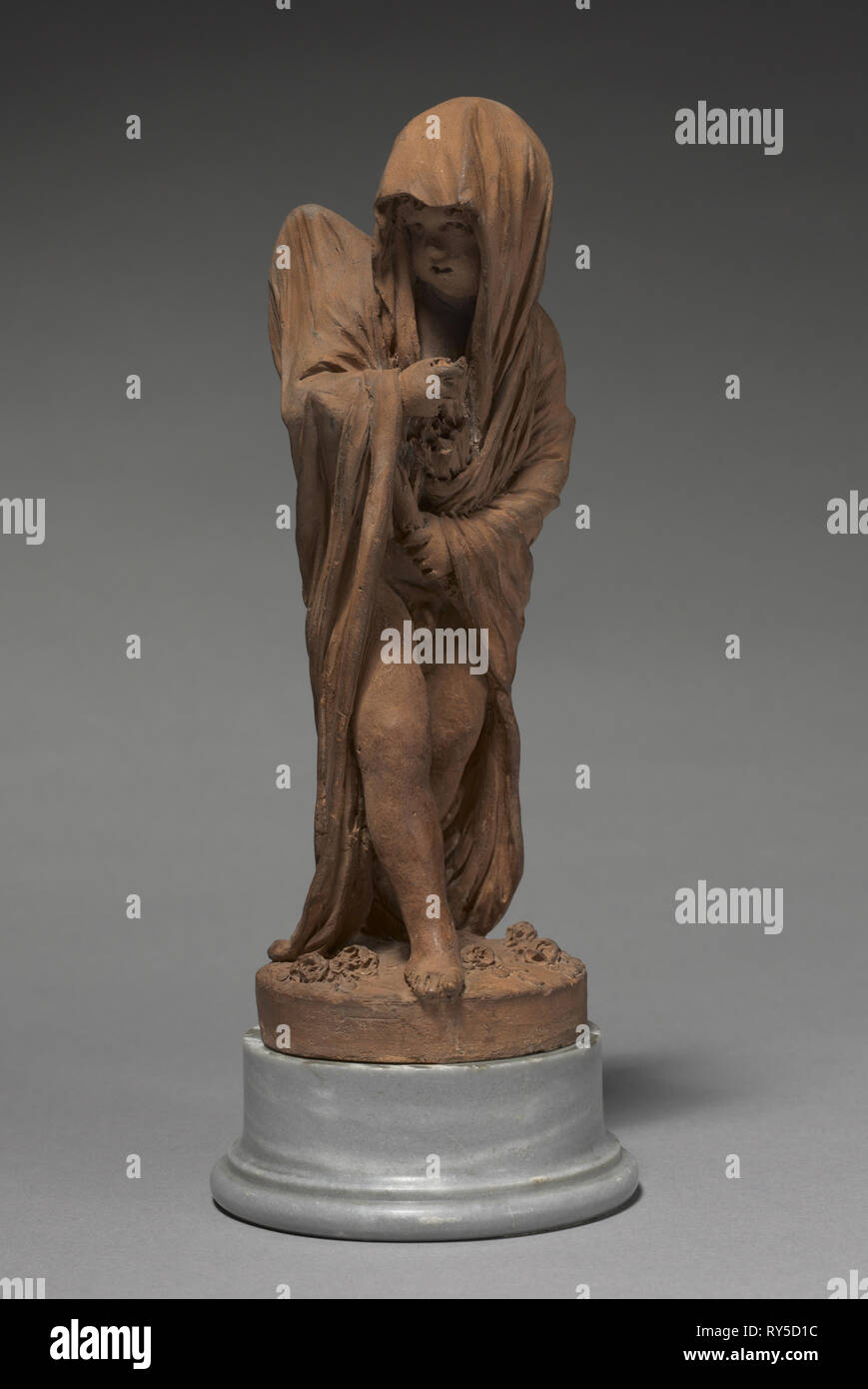 Amor heimlich Zeichnung ein Pfeil, 1807. Gilles-Lambert Godecharle (Belgisch, 1750-1835). Terrakotta; Insgesamt: 22,8 cm (9 in Stockbild