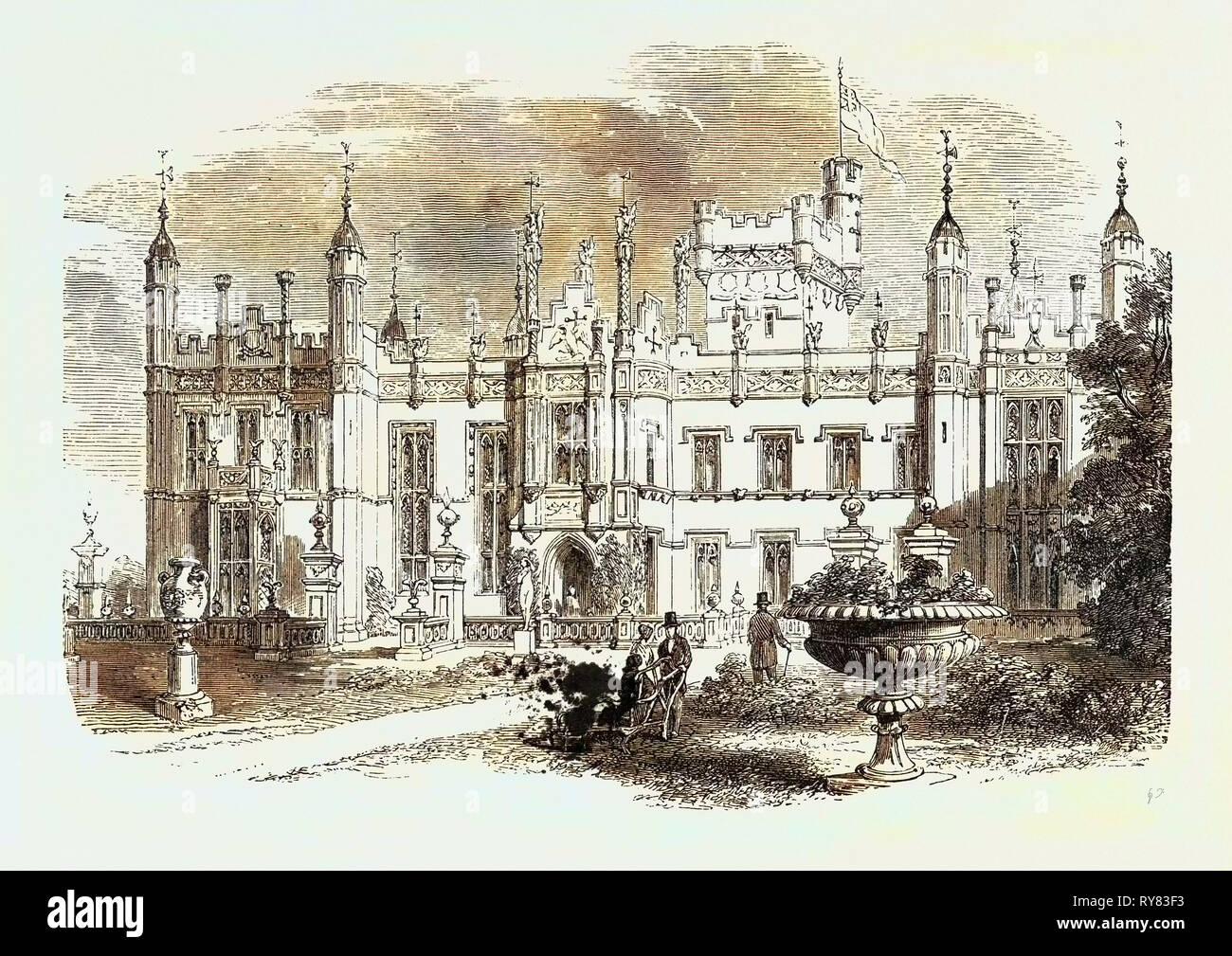 Knebworth Hertfordshire Sitz des Lord Lytton 1873 Stockfoto