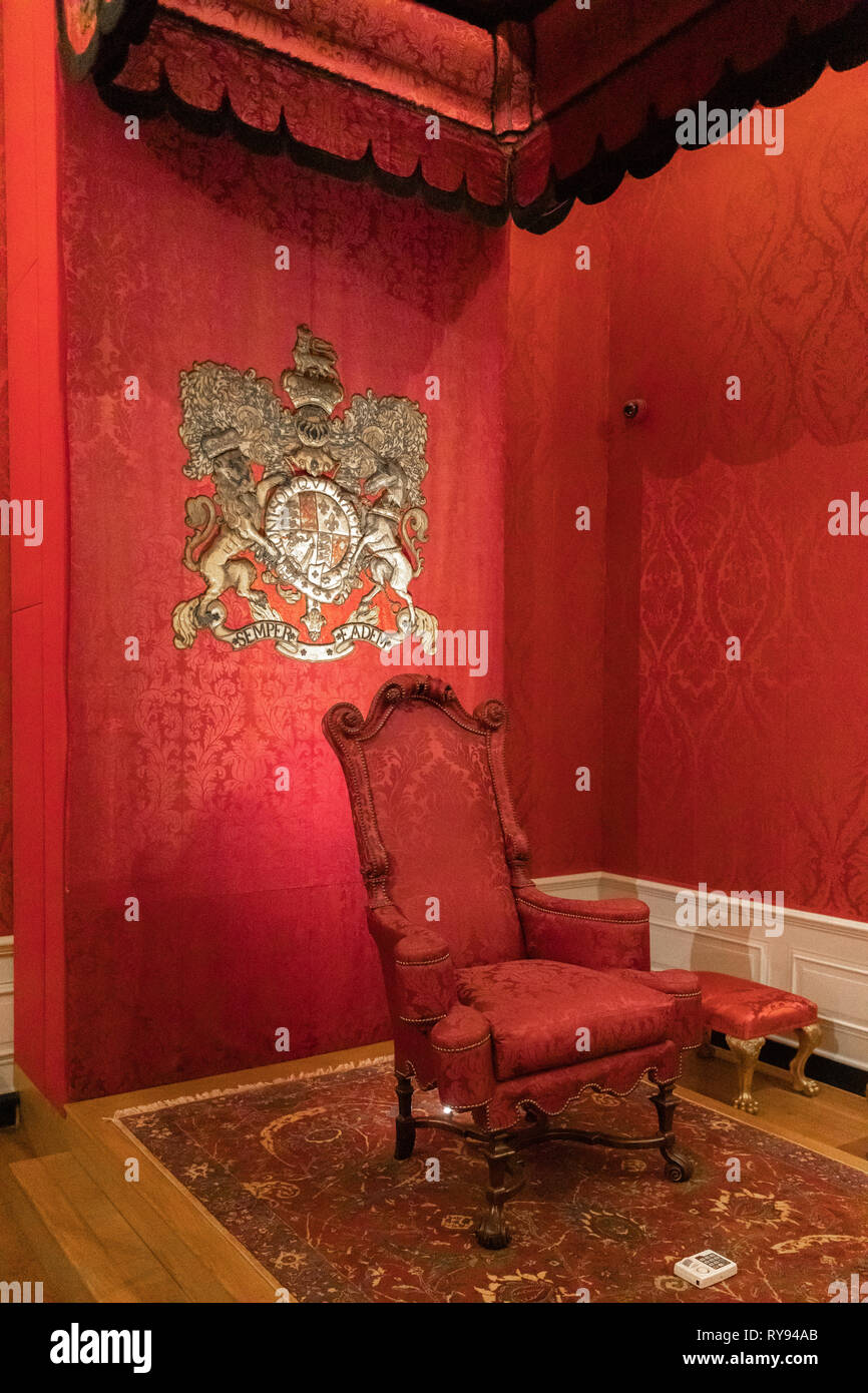 Die Kammer den Kensington Palace, London, Großbritannien Stockbild