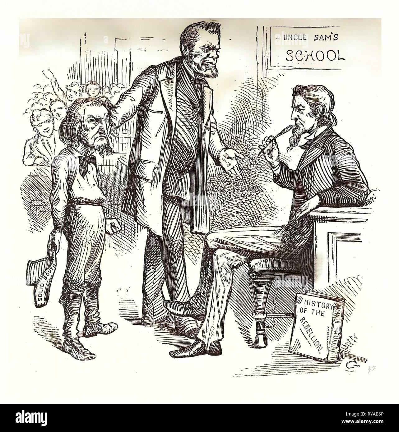 Diese Teint hat es Endlich kommen? Gravur 1880, US, USA, Amerika, Ben Hill, Politik, Politik, Politik, Kampagne, patriotischen Stockbild
